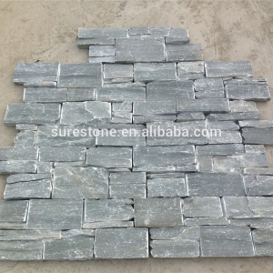 Natural slate cement backed wall covering stone