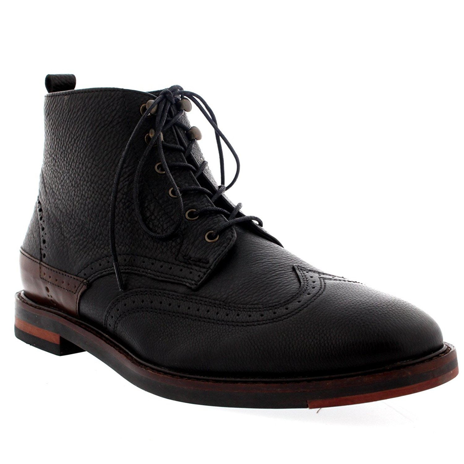 Mens H By Hudson Harland Work Office Smart Leather Laced Ankle Boot Shoe