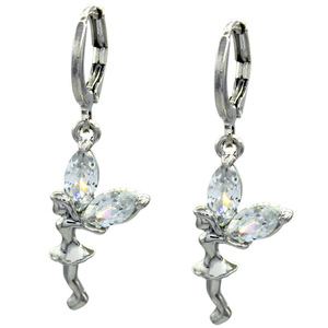 2017 beautiful lucky angel blessing couple peace earrings ear clip ear hook