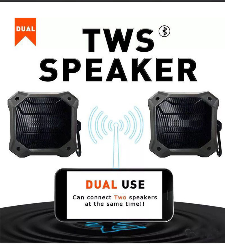 D520C Waterproof portable speaker bluetooth mini tws speaker wireless with super bass excellent sound