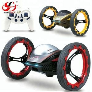 2.4GHz Remote control toys Jumping RC Jumping Car Bounce Car Robot RTR with LED Night Light