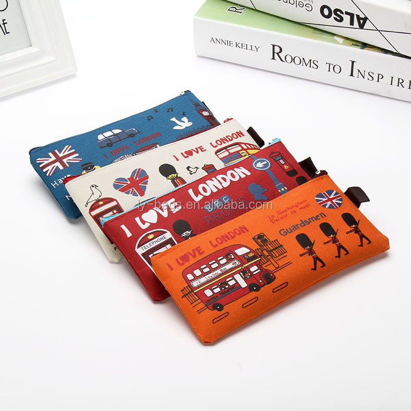 Wholesale Cheap Custom Oxford Pencil Case fancy pencil bag