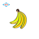 Manufacturers China souvenir metal pin, Custom banana lapel pin with hard enamel