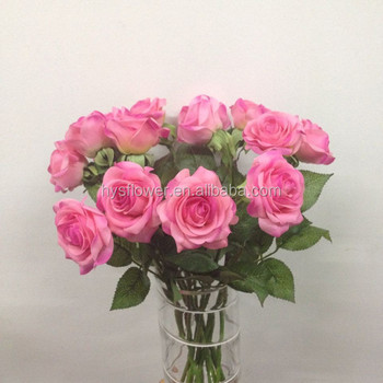 Single stem real touch small pink purple rose for latex flower single stem real touch small pink purple rose for latex flower arrangements mightylinksfo