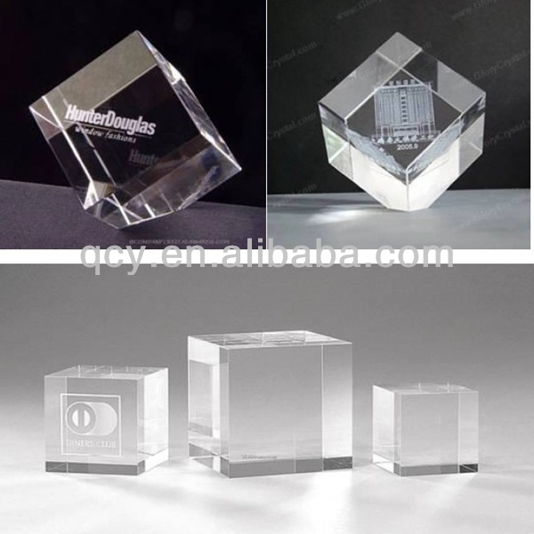custom clear lucite glass paperweights wholesale
