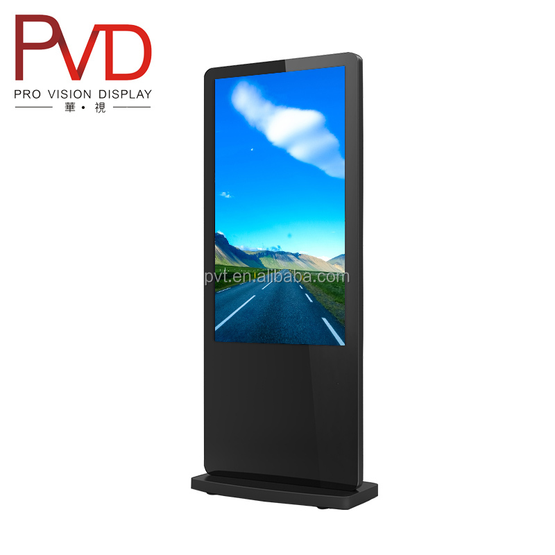 42'' Eye catching Floor standing Plug in play wifi updated LCD stand alone digital signage display