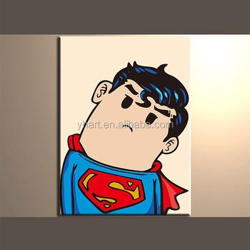 Toptan El Yapımı Renkli Kahraman Karikatür Superman Boyama Buy