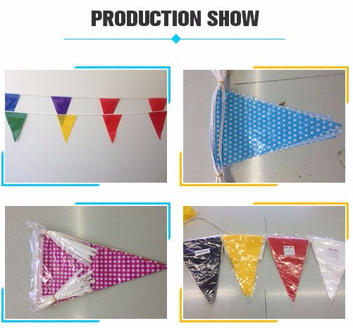 China supplying supplier grade A custom printing pennant bunting and string pennant flag