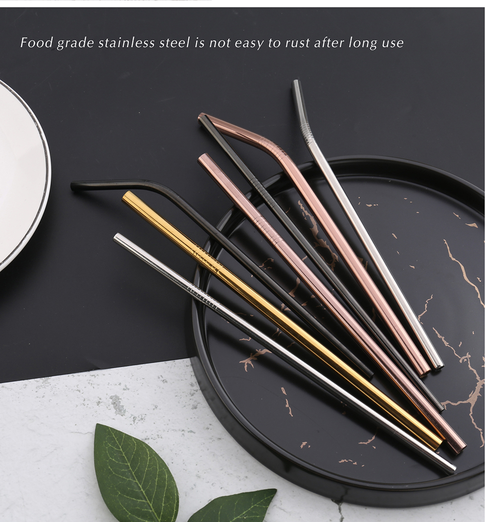 High-quality stainless steel drinking straws with free custom logo