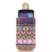 Fashion design Pu leather pouch colorful printing running armband for iphone 6