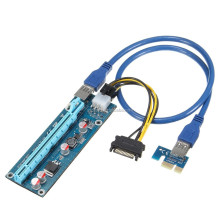 DIHAO USB PCI-E Riser 1X to 16x Extender Card with molex power USB 3.0 Cable