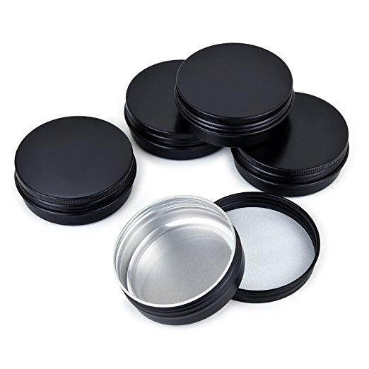 4 Oz Aluminum Tins Cans Round Storage Jars Containers Screw Lids Metal Tins Travel Tins Cosmetic Refillable Containers