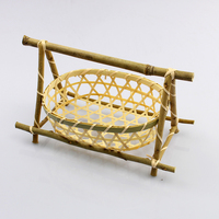 bamboo basket pure handmade weaving bambou basket for gift