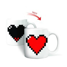 Creative Heart Magic Temperature Changing Cup Color Changing Chameleon Mugs Heat Sensitive Cup Coffee Tea Milk Mug Novelty Gifts