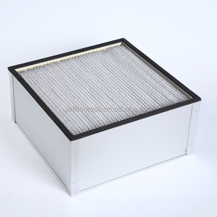 FRS-HD FRESH H13 using in clean room high dust capture capacity deep pleat hepa filter box