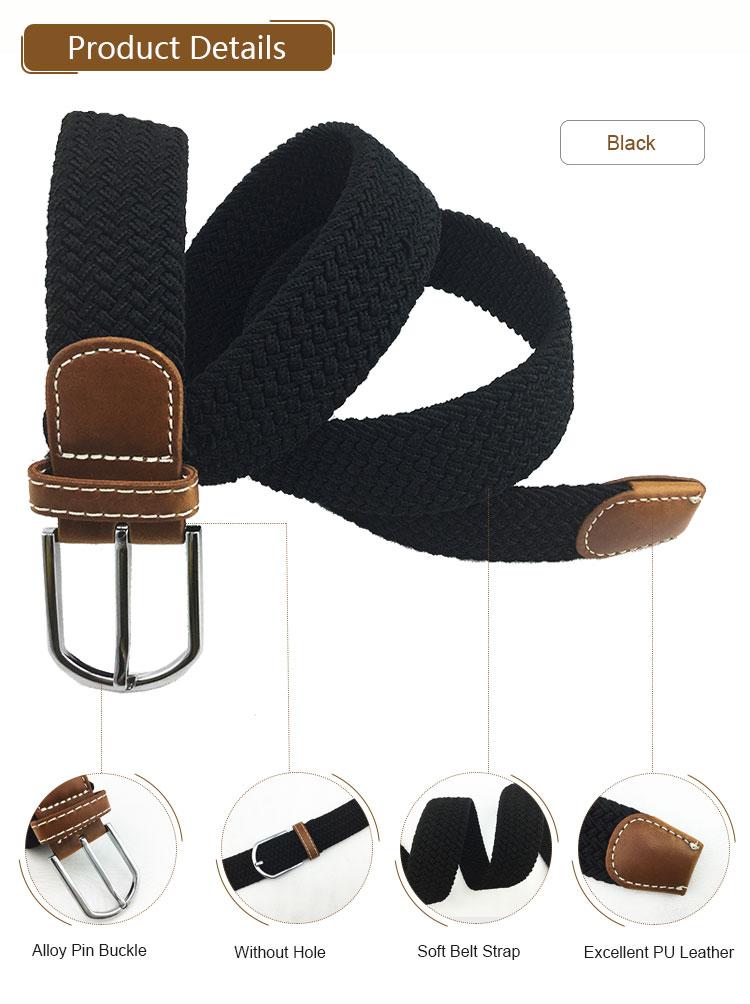Promotional Gift Belt Custom Elastic Waist Man Fabric Belts