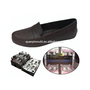 Plastic EVA leather shoes mould EVA full close shoes injection mold