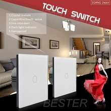 EU UK and US standard touch electrical switches for lamps