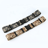 Wholesale quick release security police duty Camo nylon military uniform belt outdoor army tactical belt with plastic buckle