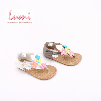 High Quality Four Flowers Girls Flip Flops White Kids Sandals Shoes