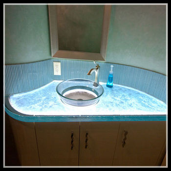 Textured One Piece Bathroom Sink And Countertop