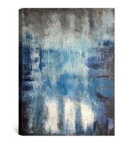2019 new design beautiful blue wall art abstract contemporary oil painting for home decor