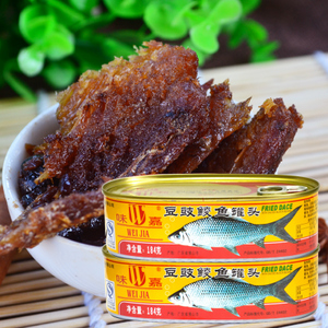 canned fried dace fish with black beans 160g canned seafoods