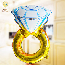 Valentijnsdag Gift 2018 Alibba Heet Verkoop Folie Helium Diamond Shape Giant Diamond Ballon Voor Wedding Party Decoraties