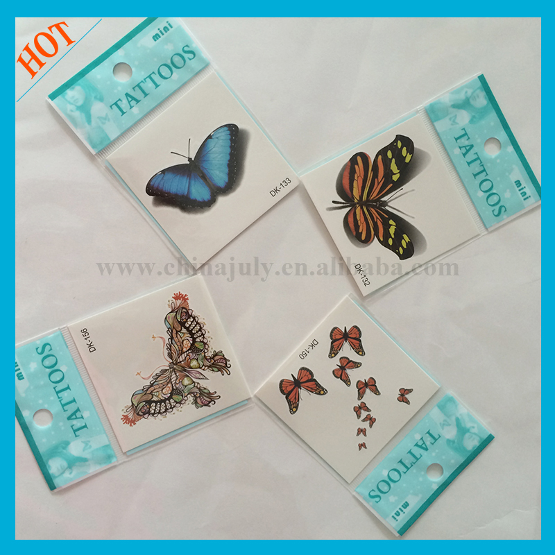 temporary sticker mini butterfly tattoo for girl