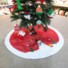Hot Selling Snowflake 48 Inch Diameter Christmas Tree Skirt