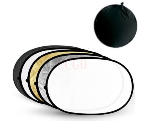 "Good quality Round Photo Collapsible Light 43"" 110cm 5in1 Photography Reflector+Bag"