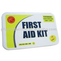 10 Unit ANSI First Aid Kit Emergency Kit Metal first aid Case