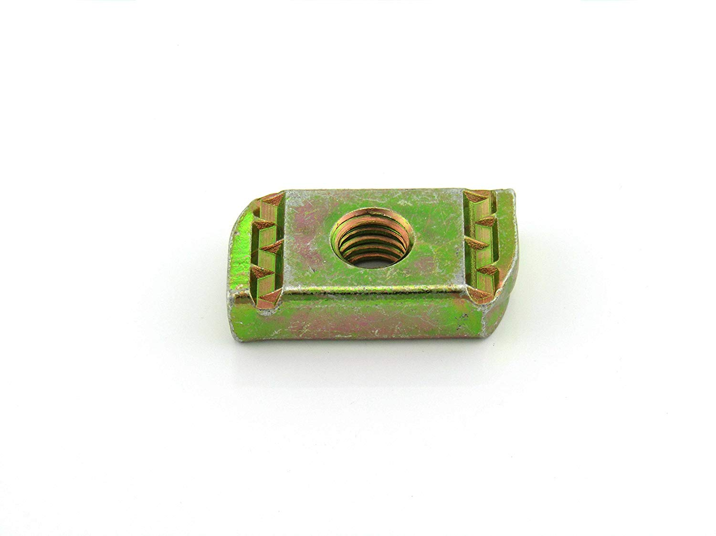 100 per Box 5//16-18X3//8 Thick No Spring Nut