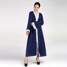 Factory Bulk Price High End Elegant Muslim Dress dubai open abaya fashion Latest Design long turkish coat style abaya