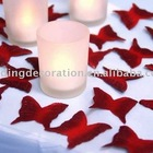 Red Wine Butterfly Silk Rose Petals