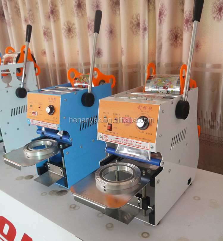 95mm 75mm Manual Plastic Cup Sealing Cup Sealer Machine