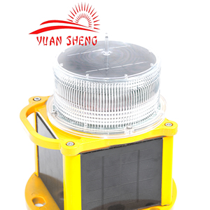 Solar LED Navigation Signal Light /Red Marine Signal Port Light