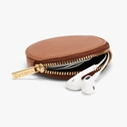 Leather Coin Purse Coin Purse Customize Zip Around Round Leather Pocket Coin Purse