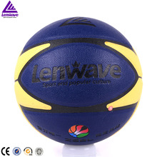 Lenwave brand promotional leather basketball ball colorful customize your own basketball