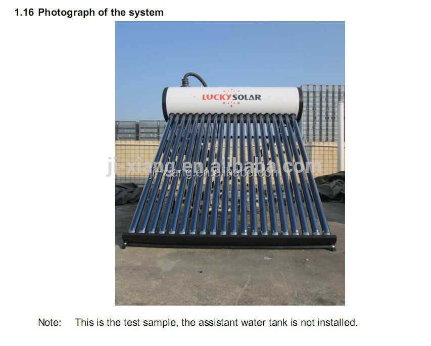 Unpressurized BEARING Solar Water heater Machine