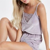 women summer pajamas set lace trim sexy loungewear romper ladies sleepwear one piece night wear