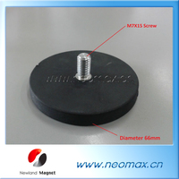 Rubber Coated Magnets For Taxi Roof Signs
