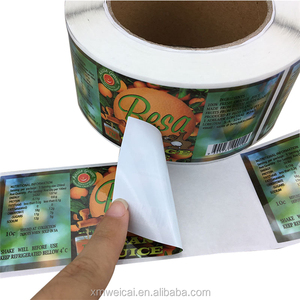 New Products High Quality Waterproof Round Bottle Label Pvc Sticker Roll