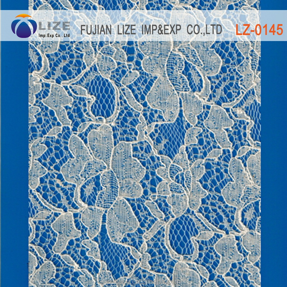 Silver french embroidered organza lace fabric with lily flopwer LZ-0145