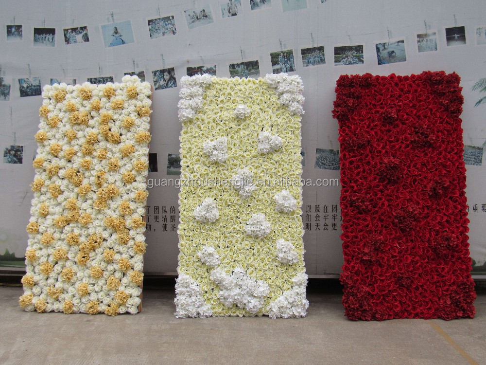Flower 3d Wall Panels : Sj ft wedding d backdrop design panel flower wall