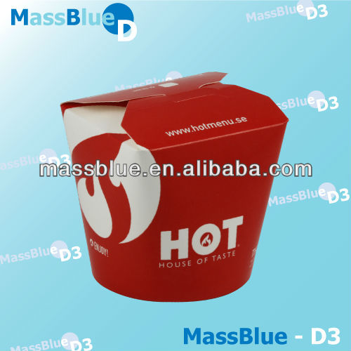 Paper round bottom noodle box/food pail
