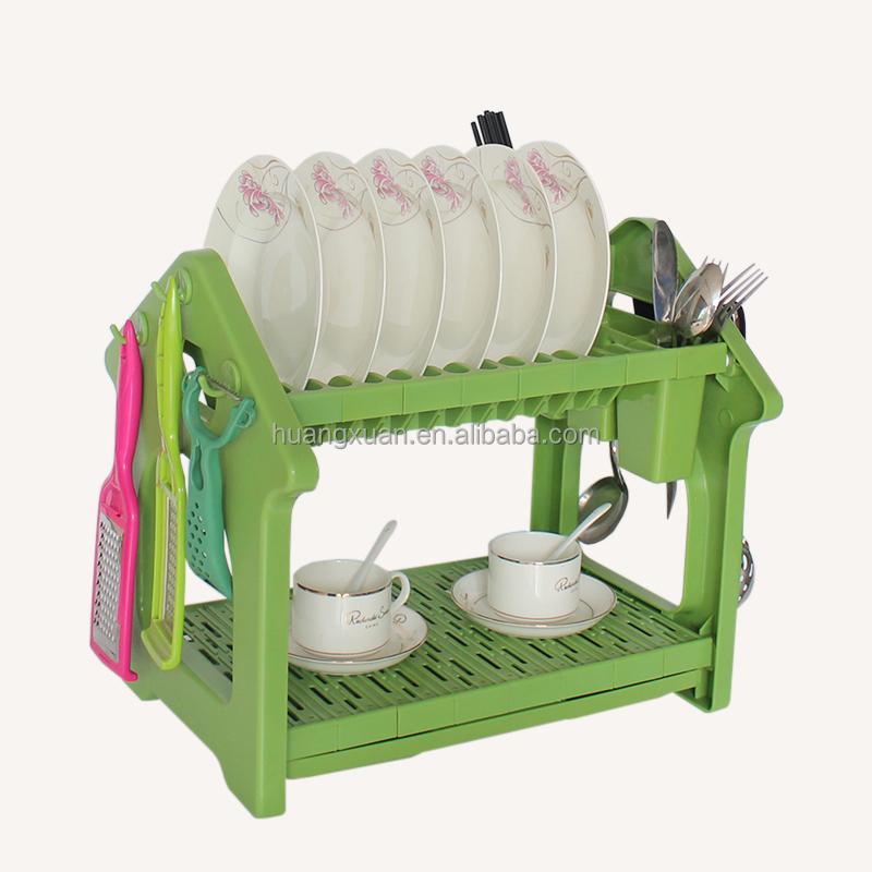 2 Tier Dish Drying Rack Plastic Dish Drainer Tray Buy 2 Tier Dish