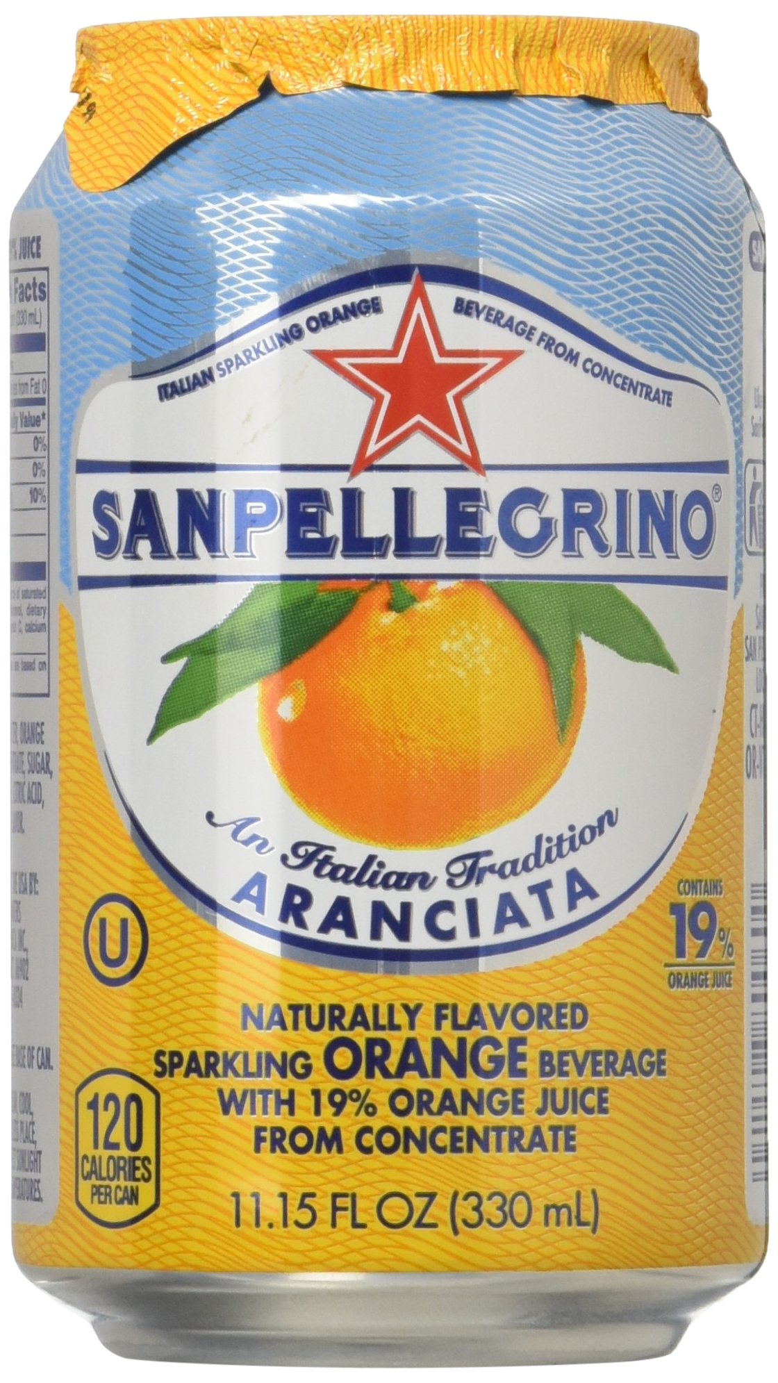Sanpellegrino Orange Sparkling Fruit Beverage, 11.15 fl oz. Cans (6 Count)