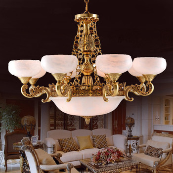 Modern Spain Alabaster Light Chandelier With 12 Lights