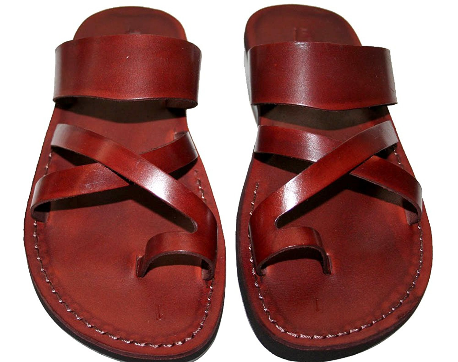 63bf83bf304ceb Get Quotations · Brown Bath Leather Sandals For Men   Women - Handmade  Unisex Sandals